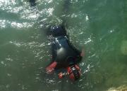 Podvodni radovi -postavljanje reflektora u more